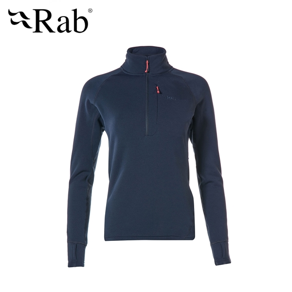 英國 RAB Power Stretch Pro Pull-On 保暖排汗衣 女款 深墨藍 #QFE63