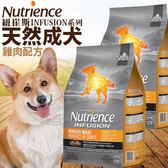 【zoo寵物商城】Nutrience紐崔斯》INFUSION天然成犬雞肉配方狗糧-2.27kg