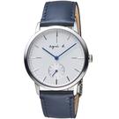 agnes b.法式簡約小秒針時尚腕錶  VD78-KLB0B BN4001X1