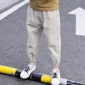 防蚊褲 男童褲子夏薄款2020新款兒童夏裝燈籠防蚊褲中大童夏季棉麻長褲潮