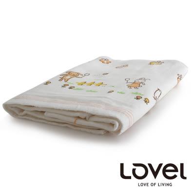 里和Riho LOVEL幼兒紗布雙面棉動物塗鴉浴巾 60x137cm 4款可選 紗布巾 哺乳擦拭巾 口水巾 毛巾