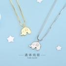 s925純銀日韓風吉祥小象項鏈童趣可愛動物鎖骨鏈女一件代發