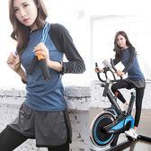 週年慶優惠-瑜伽服健身運動套裝女訓練跑步服長袖休閒羽毛球健身服長袖