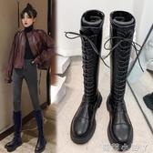 長筒靴女2020年秋冬季新款高筒靴馬丁瘦瘦靴中筒騎士靴長靴女過膝 蘿莉新品
