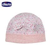 chicco-花朵兔-碎花嬰兒帽