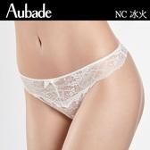 Aubade-冰火M-XL繃帶蕾絲三角褲(白)NC