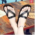 男潮人夏季個性男士沙灘鞋室內居家防滑一字拖Lpm1124【kikikoko】