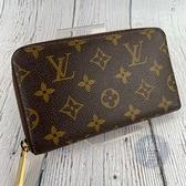 BRAND楓月 LOUIS VUITTON LV 路易威登 M40499 經典 原花 拉鍊 中夾 皮夾 錢包 多卡層