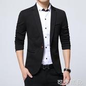 男士西裝秋季新款商務英倫韓版修身上衣青年外套單西休閒小西服男