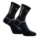 Mizuno Socks [32TX100750] 男 中筒襪 運動 厚底 排球 羽球 吸濕排汗 25-27cm 黑金