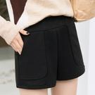 【Charm Beauty】外穿 秋冬季 呢子 闊腿靴褲 新款 韓版 寬鬆 顯瘦 秋季 高腰 毛呢 短褲女