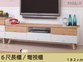 【德泰傢俱工廠】伊森6尺電視櫃A003-169-6