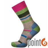 【POINT 6 美國】mixed stripe light 健行 中筒羊毛襪 『褐』22611566 202休閒|保暖襪|羊毛