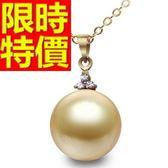 珍珠項鍊 單顆9-10mm-生日七夕情人節禮物淑女閃耀女性飾品53pe23[巴黎精品]