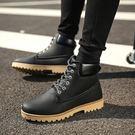 工裝鞋馬丁靴短靴英倫馬丁鞋子男士短靴工裝靴男軍靴登山靴男鞋快速出貨8折秒殺