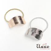 UNICO 韓版 氣質復古風葉片造型髮圈