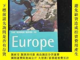 二手書博民逛書店英文原版罕見THE ROUGH GUIDE TO EUROPEY