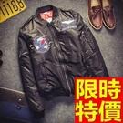 空軍外套MA1流行時尚-潮流棒球領徽章軍裝男夾克63ai17【巴黎精品】