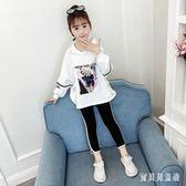 女童套裝 2019秋装新款洋氣兒童小女孩時髦衛衣休閑兩件套 YN1222『寶貝兒童裝』
