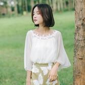 優雅氣質仙女雪紡衫復古設計感小心機上衣夏季新款 - 風尚3C