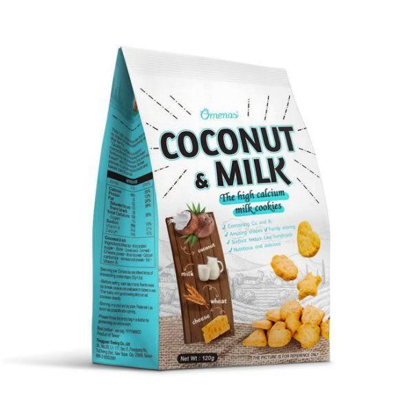 Omenas 高鈣牛奶餅乾 椰子牛奶(120g/包) | OS小舖