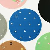 韓國可愛甜美PVC柔軟圓形鼠標墊個性創意防滑設計鼠標墊餐墊