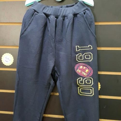 ☆棒棒糖童裝☆(A80525)秋冬男大童數字束長棉長褲 120-170 藍;灰