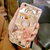 三星 S9 Plus S8 Plus S7 Edge Note5 Note8 C9 Pro 電鍍蝴蝶花水鑽殼 鏡面 手機殼 軟殼