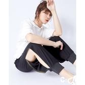 CANTWO JEANS鬆緊羅紋縮口褲-黑色~初秋換季~限時激殺3折