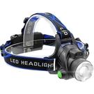 戶外led感應頭燈強光充電變焦頭戴式鋰電筒超亮夜釣魚疝氣礦燈小