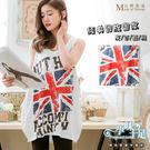 *孕味十足。孕婦裝*現貨【COI7802】台灣製仿舊掉漆字母國旗造型造型孕婦背心上衣 四色