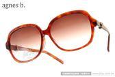 agnes b.太陽眼鏡 AB2815 DW (紅琥珀) 簡約時尚百搭款 # 金橘眼鏡