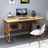 電腦桌 簡易電腦桌台式家用書桌簡約租房桌子臥室寫字台學生學習桌辦公桌【幸福小屋】