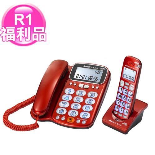 R1【福利品】SANLUX聽筒增音報號無線子母電話DCT-8916紅
