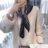 2019春秋新款韓國復古絲巾小方巾女薄款紗巾職業裝飾領巾圍巾發帶 韓慕精品