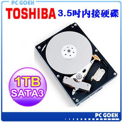 東芝 TOSHIBA 1TB 3.5吋 SATA3電腦硬碟(DT01ACA100)/7200轉/32M ☆pcgoex 軒揚☆