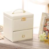 化妝箱手提專業多層木質抽屜式日本化妝品收納盒包家用大號帶鏡子 生活樂事館
