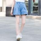 女童牛仔短褲 女童短褲新款洋氣中大童夏季薄款褲子兒童牛仔夏裝百搭外穿-Ballet朵朵
