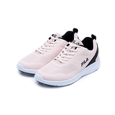 FILA DOLPHIN 女款粉色輕量透氣慢跑鞋-NO.5J901U511