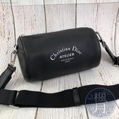 BRAND楓月 Christian Dior 迪奧 HOMME Atelier系列 黑色 圓筒包 經典男款