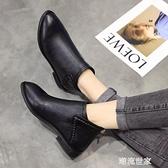 秋冬馬丁靴女英倫風百搭短靴平底韓版粗跟加絨女靴2020新款及裸靴『潮流世家』