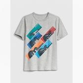 Gap男童棉質舒適圓領短袖T恤539391-淺麻灰