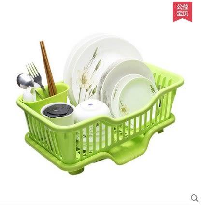 沃之沃廚房瀝水碗架塑料碗碟架收納置物架碗櫃碗筷架子落地收納架