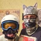 面罩 動物防曬面罩全臉滑雪防風護臉貓咪臉基尼女摩托車裝備騎行頭套男 韓菲兒