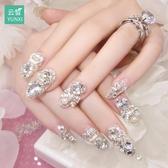 指甲貼片指甲貼紙防水持久美甲貼紙全貼韓國3d可穿戴飾品美甲成品