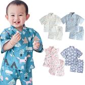棉麻日式和服套裝 和風 浴衣 上衣 短褲 男童 男寶寶 褲子 Augelute Baby 60157