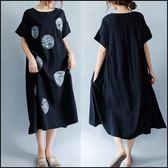 5天出貨★中大尺碼短袖洋裝 連身裙★ifairies【53932】