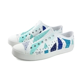 Native JEFFERSON PRINT男女款白藍幾何休閒鞋 -NO.11100101-8779