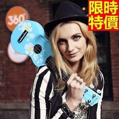 烏克麗麗ukulele-小花繪畫椴木合板23吋四弦琴樂器5款69x10[時尚巴黎]