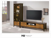 【MK億騰傢俱】ES370-2L賽德克積層木雙色L電視櫃組